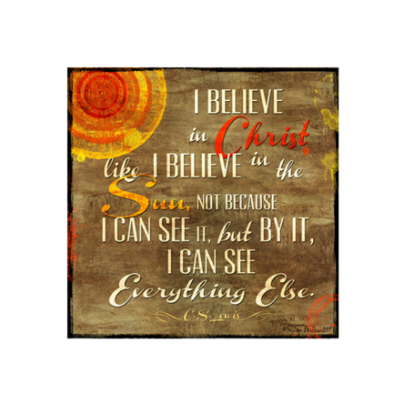 """I Believe"" Canvas"