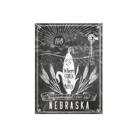 Nebraska 150 Anniversary Canvas
