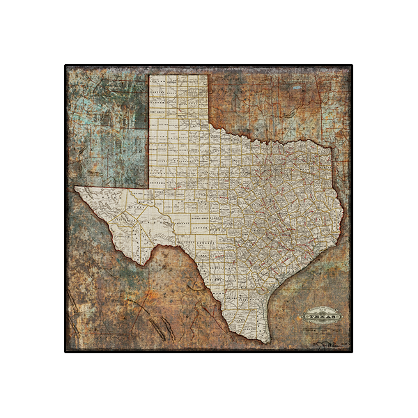 Map Of Texas Railroads.Texas State Railroad Map Canvas