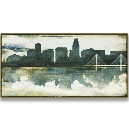 Omaha Skyline Watercolor Canvas (Without Name)