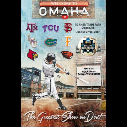 """NCAA 2017 College World Series Team Print"" Canvas OR Print"