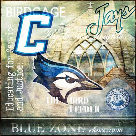 """""""NCAA Creighton Collage"""" Canvas"""