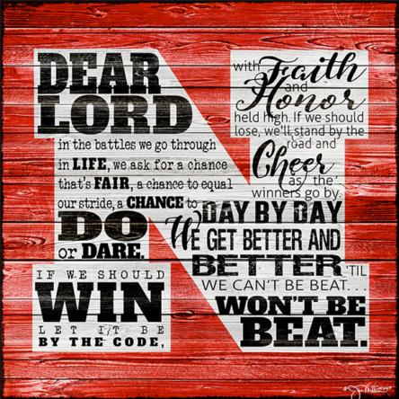 Husker Prayer Canvas