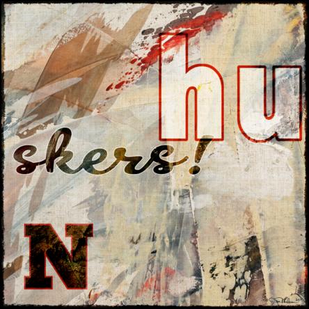 Husker Swash Canvas