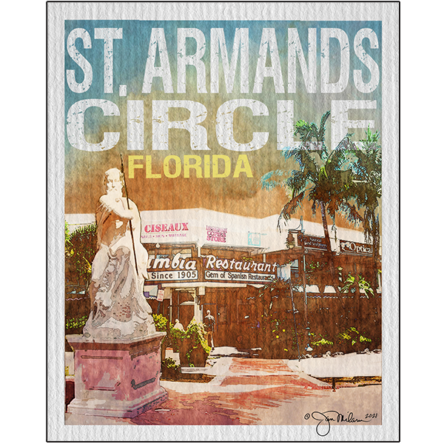 St. Armand's Circle Custom Collage Canvas (Customize Your City)